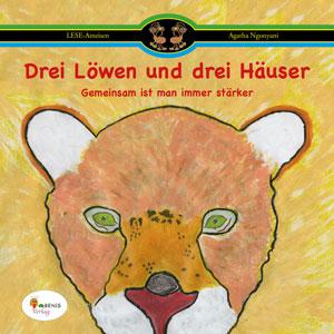 """Buchcover """"Drei Löwen und drei Häuser"""""""